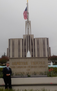 Kody at the Seattle Temple