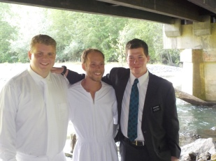 Kody's First Baptism in the Dungeness River